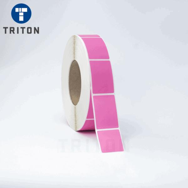 Thermal Port Mark Label 37x58 Pink, Security Slit