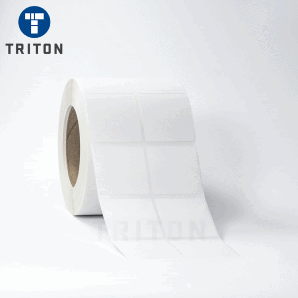 Thermal Label 50x50 2 Up, White, Freezer Adhesive